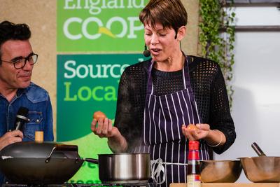 2016 Aldeburgh Food & Drink Festival: Chef Anna Hansen of The Modern Pantry. © bokeh photographic (Alistair Grant): Freelance Photographer Cambridge.