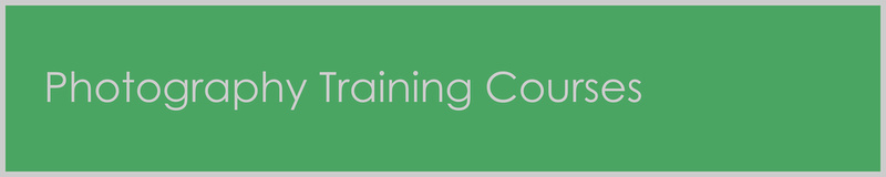 Photography Training Courses Page Title Header.