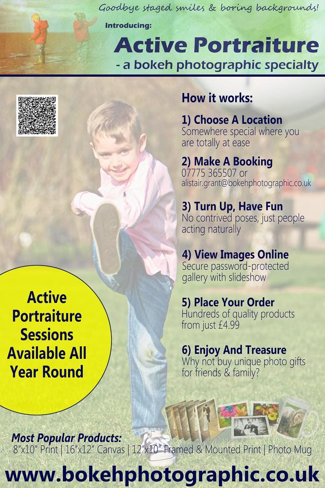 Active Portraiture How It Works | bokeh photographic (Alistair Grant) Family & Children's Portrait Photography.