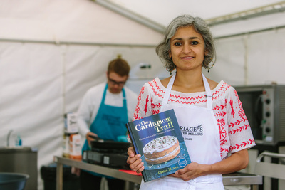 2017 Aldeburgh Food & Drink Festival: Chetna Makan. © bokeh photographic (Alistair Grant): Freelance Photographer Cambridge.