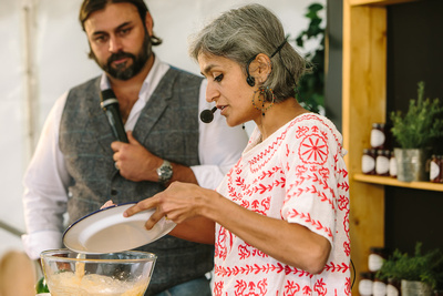 2017 Aldeburgh Food & Drink Festival: Chetna Makan and Dhruv Baker. | bokeh photographic - Alistair Grant.