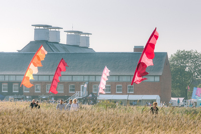 2017 Aldeburgh Food & Drink Festival: Snape Maltings from the River Alde Marsh. © bokeh photographic (Alistair Grant): Freelance Photographer Cambridge.