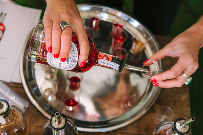 2017 Aldeburgh Food & Drink Festival: Tiptree English Raspberry Gin Liqueur. © bokeh photographic (Alistair Grant): Freelance Photographer Cambridge.