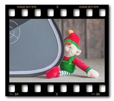 Not #ElfOnTheShelf but #sELFie in the #Photography #Studio. DAY 7: XpoBalance Grey Card.  A bit of festive fun illustrating some of the photographic equipment I use to shoot Food Photography, Portrait Photography, Event Photography, Corporate Photography & Product Photography. © bokeh photographic (Alistair Grant): Freelance Photographer, St Ives, Cambridge and across the UK.