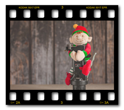 Not #ElfOnTheShelf but #sELFie in the #Photography #Studio. DAY 17: Manfrotto Grip Head.  A bit of festive fun illustrating some of the photographic equipment I use to shoot Food Photography, Portrait Photography, Event Photography, Corporate Photography & Product Photography. © bokeh photographic (Alistair Grant): Freelance Photographer, St Ives, Cambridge and across the UK.