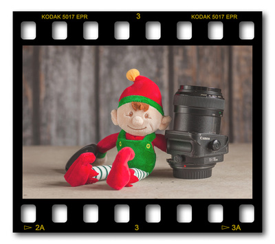 Not #ElfOnTheShelf but #sELFie in the #Photography #Studio. DAY 18: Canon 90mm TiltShift.  A bit of festive fun illustrating some of the photographic equipment I use to shoot Food Photography, Portrait Photography, Event Photography, Corporate Photography & Product Photography. © bokeh photographic (Alistair Grant): Freelance Photographer, St Ives, Cambridge and across the UK.