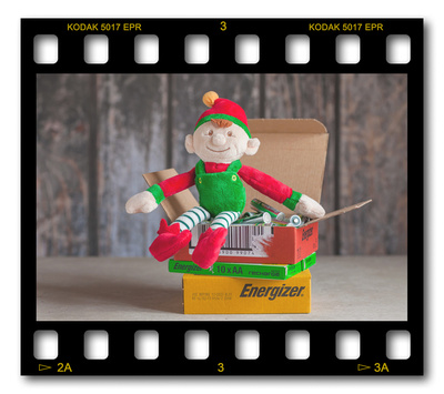 Not #ElfOnTheShelf but #sELFie in the #Photography #Studio. DAY 23: Batteries.  A bit of festive fun illustrating some of the photographic equipment I use to shoot Food Photography, Portrait Photography, Event Photography, Corporate Photography & Product Photography. © bokeh photographic (Alistair Grant): Freelance Photographer, St Ives, Cambridge and across the UK.