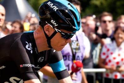 Team Sky's Chris Froome Le Tour de France Cambridge Depart by bokeh photographic (Alistair Grant) Event Photographer St Ives Cambridgeshire.