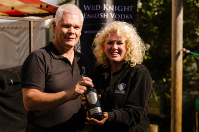 2016 Aldeburgh Food & Drink Festival: Wild Knight English Vodka. © bokeh photographic (Alistair Grant): Freelance Photographer Cambridge.