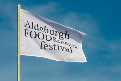 2016 Aldeburgh Food & Drink Festival: Festival Flag. © bokeh photographic (Alistair Grant): Freelance Photographer Cambridge.