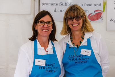 2016 Aldeburgh Food & Drink Festival: Festival Welcome Team. © bokeh photographic (Alistair Grant): Freelance Photographer Cambridge.
