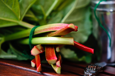 Food Photography Portfolio – Tied Stems of Harvested Rhubarb. © bokeh photographic (Alistair Grant): Food Photographer, St Ives, Cambridge.
