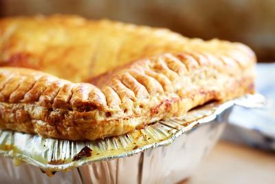 Food & Drink Photography Image: Chicken Pie. © bokeh photographic (Alistair Grant): Food & Drink Photographer in Cambridgeshire, Bedfordshire, Northamptonshire, Norfolk, Suffolk, Essex & Hertfordshire.