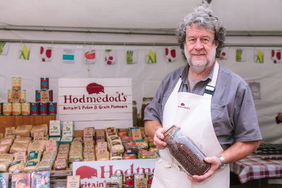 2017 Aldeburgh Food & Drink Festival: William Hudson, Hodmedod's Pulses & Grains. | bokeh photographic - Alistair Grant.