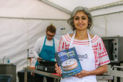 2017 Aldeburgh Food & Drink Festival: Chetna Makan. © bokeh photographic (Alistair Grant): Freelance Photographer Cambridge.