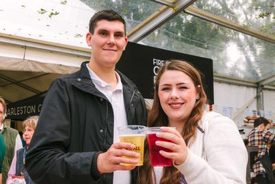 2017 Aldeburgh Food & Drink Festival: A couple enjoying Aspall Cyder. | bokeh photographic - Alistair Grant.