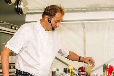 2017 Aldeburgh Food & Drink Festival: Galton Blackiston Cookery Demonstration. © bokeh photographic (Alistair Grant): Freelance Photographer Cambridge.