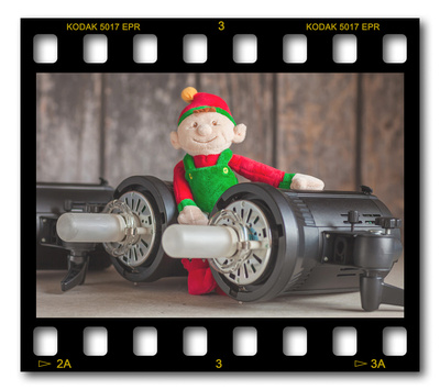 Not #ElfOnTheShelf but #sELFie in the #Photography #Studio. DAY 19: Studio Strobes.  A bit of festive fun illustrating some of the photographic equipment I use to shoot Food Photography, Portrait Photography, Event Photography, Corporate Photography & Product Photography. © bokeh photographic (Alistair Grant): Freelance Photographer, St Ives, Cambridge and across the UK.