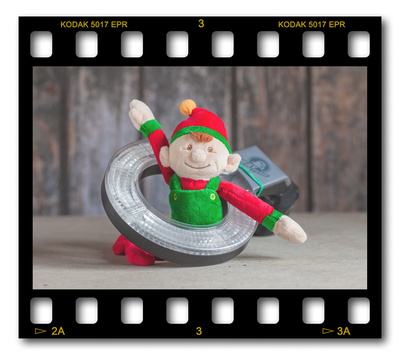 Not #ElfOnTheShelf but #sELFie in the #Photography #Studio. DAY 24: Ray RingFlash.  A bit of festive fun illustrating some of the photographic equipment I use to shoot Food Photography, Portrait Photography, Event Photography, Corporate Photography & Product Photography. © bokeh photographic (Alistair Grant): Freelance Photographer, St Ives, Cambridge and across the UK.