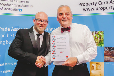 Corporate Photography and PR Photography Image of Property Care Association Award Ceremony. © bokeh photographic (Alistair Grant): Corporate Photographer and PR Photographer in Cambridgeshire, Bedfordshire, Northamptonshire, Norfolk, Suffolk, Essex, Hertfordshire and across the UK.