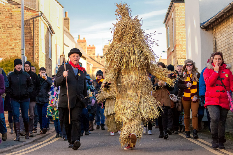 Event Photography Image of Whittlesea Straw Bear Parade. © bokeh photographic (Alistair Grant): Event Photographer in Cambridgeshire, Bedfordshire, Northamptonshire, Norfolk, Suffolk, Essex, Hertfordshire and across the UK.