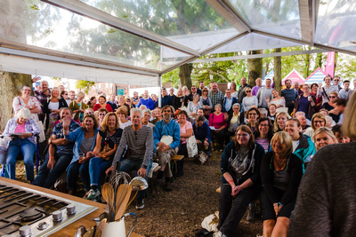 2016 Aldeburgh Food & Drink Festival: Cookery Demonstration Audience. © bokeh photographic (Alistair Grant): Freelance Photographer Cambridge.