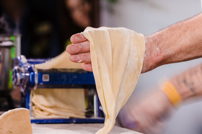 2016 Aldeburgh Food & Drink Festival: Fresh Pasta. © bokeh photographic (Alistair Grant): Freelance Photographer Cambridge.