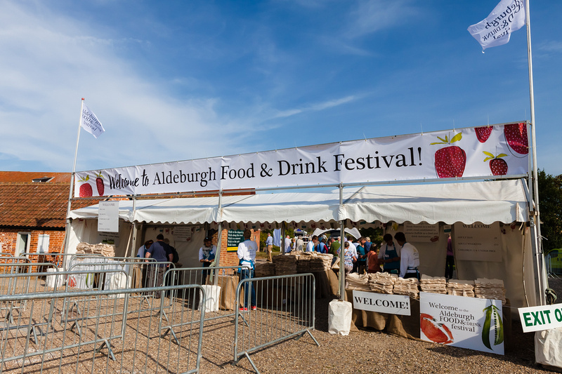 2016 Aldeburgh Food & Drink Festival: Festival Entrance. © bokeh photographic (Alistair Grant): Freelance Photographer Cambridge.