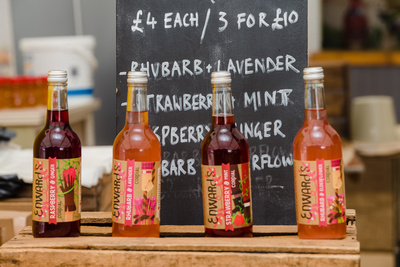 2016 Aldeburgh Food & Drink Festival: Edwards Drinks Fruit & Herb Cordials. © bokeh photographic (Alistair Grant): Freelance Photographer Cambridge.