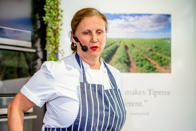 Food Photography Image of Restaurateur and Celebrity TV Chef Angela Hartnett. © bokeh photographic (Alistair Grant): Food Photographer in Cambridgeshire, Bedfordshire, Northamptonshire, Norfolk, Suffolk, Essex, Hertfordshire and across the UK.