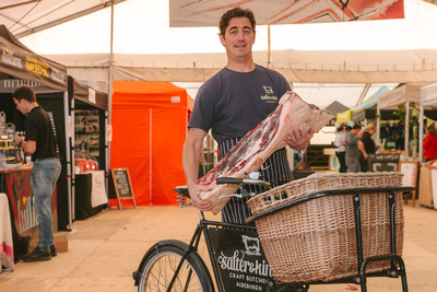 2017 Aldeburgh Food & Drink Festival: Gerard King, Salter & King Craft Butchers. | bokeh photographic - Alistair Grant.