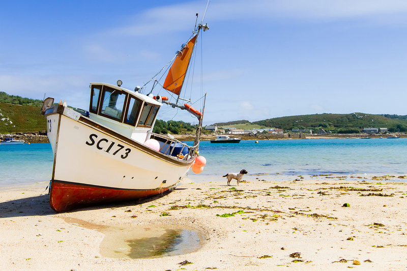 Freelance Photographer Cambridge Blog Image | 03 – Fishing Boat on the beach on Bryher, Isles of scilly. © bokeh photographic (Alistair Grant): Freelance Photographer, St Ives, Cambridge, London and across the UK.