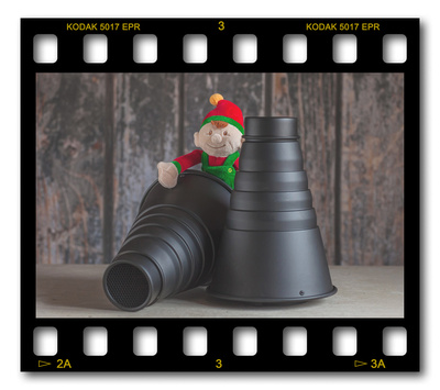 Not #ElfOnTheShelf but #sELFie in the #Photography #Studio. DAY 22: Snoots & Honeycombs.  A bit of festive fun illustrating some of the photographic equipment I use to shoot Food Photography, Portrait Photography, Event Photography, Corporate Photography & Product Photography. © bokeh photographic (Alistair Grant): Freelance Photographer, St Ives, Cambridge and across the UK.