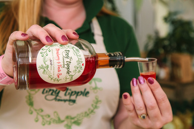 2017 Aldeburgh Food & Drink Festival: Tiny Tipple Strawberry & Vanilla Rum. © bokeh photographic (Alistair Grant): Freelance Photographer Cambridge.