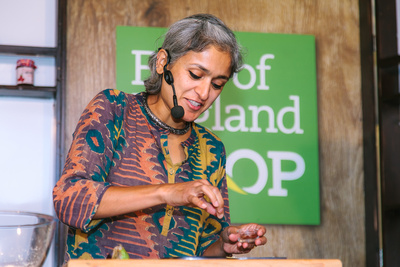 2017 Aldeburgh Food & Drink Festival: Chetna Makan Masterclass. © bokeh photographic (Alistair Grant): Freelance Photographer Cambridge.