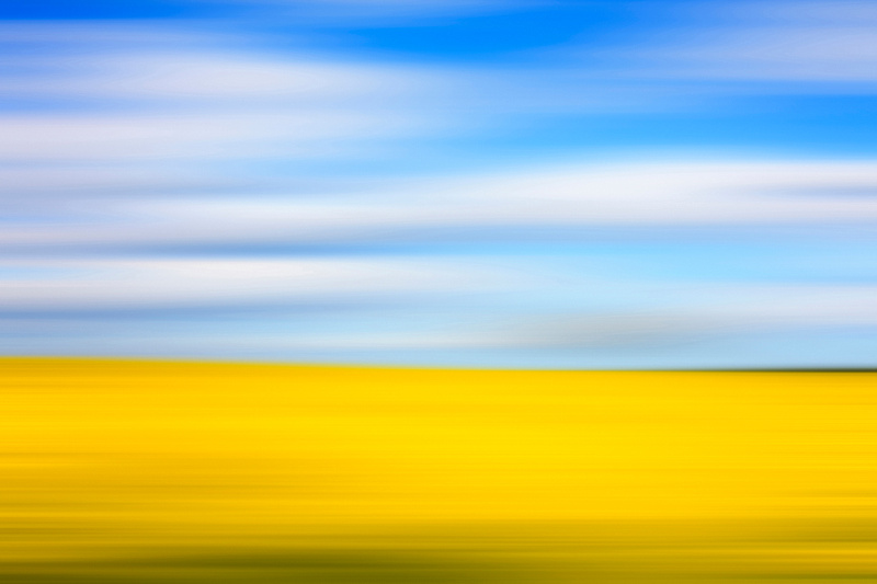 Freelance Photographer Cambridge Blog Image | Blog 40 | A Broad Church (Intentional Camera Movement) (An abstract image of a rape field in spring taken using the Intentional Camera Movement long-exposure photography technique where the photographer makes a conscious and volitional movement of the camera). © bokeh photographic (Alistair Grant): Freelance Photographer; Food & Drink Photographer; Commercial Photographer, Product Photographer & Packshot Photographer; Event Photographer; Portrait Photographer; Corporate Photographer & PR Photographer; Engagement Photographer & Wedding Photographer and Photography Training Courses, St Ives, Cambridge.