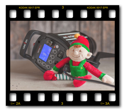 Not #ElfOnTheShelf but #sELFie in the #Photography #Studio. DAY 1: High Speed Flash.  A bit of festive fun illustrating some of the photographic equipment I use to shoot Food Photography, Portrait Photography, Event Photography, Corporate Photography & Product Photography. © bokeh photographic (Alistair Grant): Freelance Photographer, St Ives, Cambridge and across the UK.