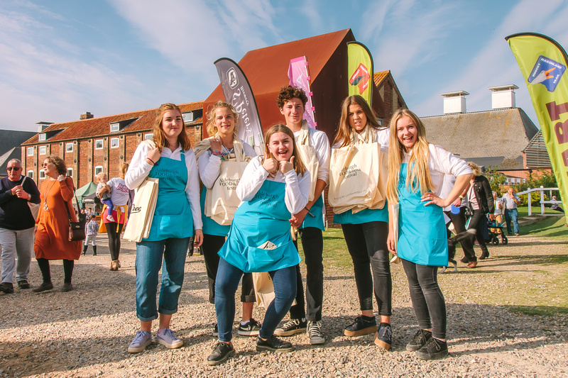 2017 Aldeburgh Food & Drink Festival: Festival Staff. © bokeh photographic (Alistair Grant): Freelance Photographer Cambridge.