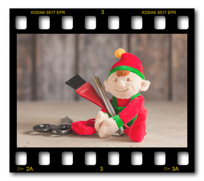 Not #ElfOnTheShelf but #sELFie in the #Photography #Studio. DAY 15: Touch Up Tools.  A bit of festive fun illustrating some of the photographic equipment I use to shoot Food Photography, Portrait Photography, Event Photography, Corporate Photography & Product Photography. © bokeh photographic (Alistair Grant): Freelance Photographer, St Ives, Cambridge and across the UK.