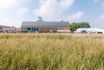 2017 Aldeburgh Food & Drink Festival: Snape Maltings from the Boardwalk. © bokeh photographic (Alistair Grant): Freelance Photographer Cambridge.