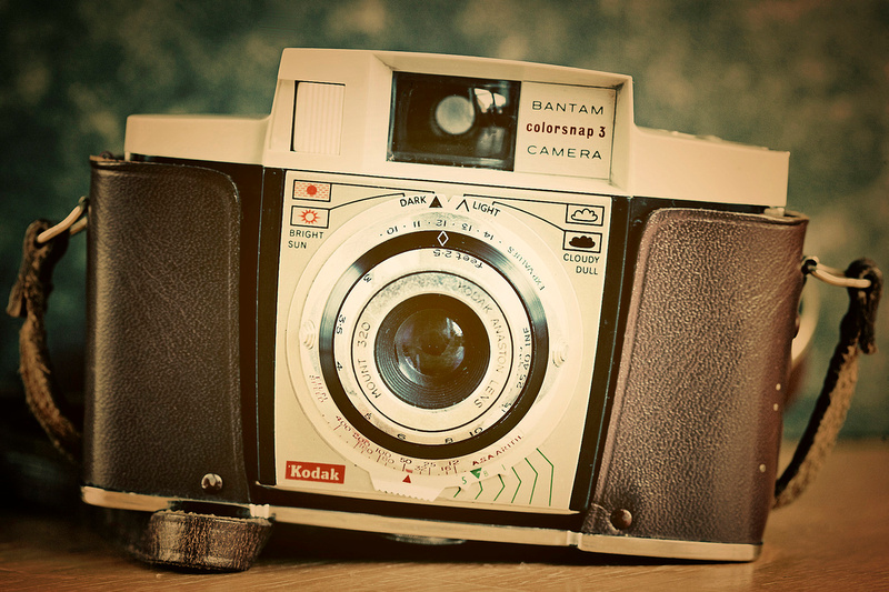 Close up image of a 1960's Vintage Kodak Coloursnap 3 Camera. © bokeh photographic (Alistair Grant): Freelance Photographer, St Ives, Cambridge, London and across the UK.