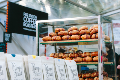 2017 Aldeburgh Food & Drink Festival: Pump Street Bakery Eccles Cakes. © bokeh photographic (Alistair Grant): Freelance Photographer Cambridge.