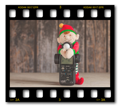 Not #ElfOnTheShelf but #sELFie in the #Photography #Studio. DAY 4: Lightmeter.  A bit of festive fun illustrating some of the photographic equipment I use to shoot Food Photography, Portrait Photography, Event Photography, Corporate Photography & Product Photography. © bokeh photographic (Alistair Grant): Freelance Photographer, St Ives, Cambridge and across the UK.